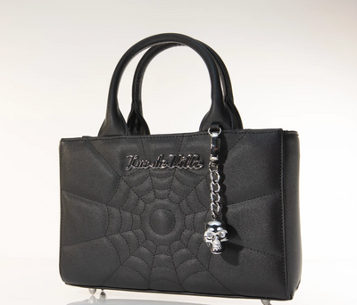 Mini Itsy Bitsy Tote Handbag in Black Matte (Crossbody Strap Included)
