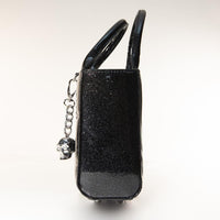 Mini Itsy Bitsy Tote Handbag in Midnight Sparkle (Crossbody Strap Included)