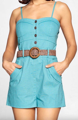 Pinup Retro Romper in Mint