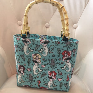 Molly Mermaid Bamboo Handbag