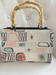 Atomic Bamboo Handbag in Light Pink Boomerang