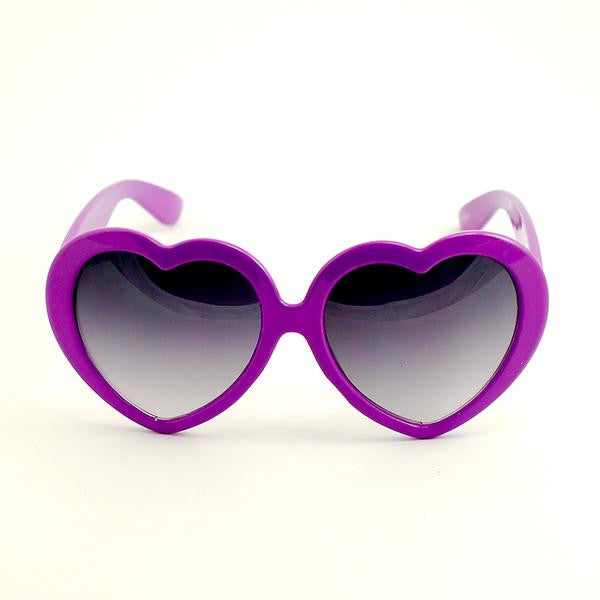 Heart Shaped Sunglasses in Purple