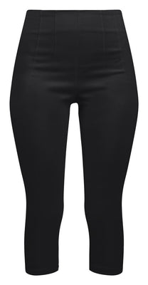 Retro Gal High Waisted Pinup Capris in Black