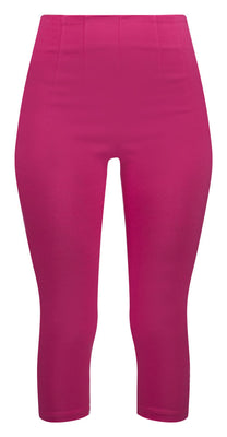 Retro Gal High Waisted Pinup Capris in Fuchsia Pink - FINAL SALE