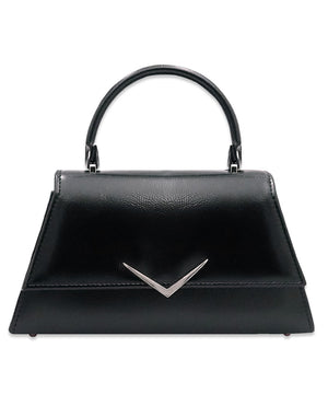 Rumbler Cadi Handbag in Black Patent (with crossbody strap)