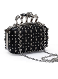 Skull Clutch with Knuckle Handle