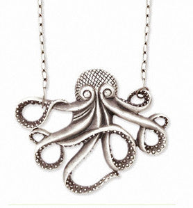 Antique Silver Octopus Necklace