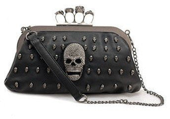 Skull Studded Knuckle Ring Handbag