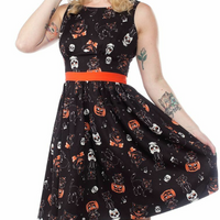 Black Cats Shift Dress by Sourpuss