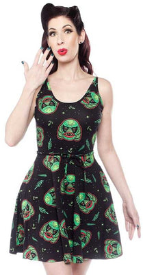 Creature From The Black Lagoon Printed Dress by Sourpuss