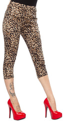 Leopard Print Peggy Capris by Sourpuss