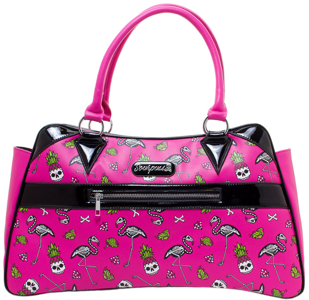 Pink Flamingos Camille Purse by Sourpuss
