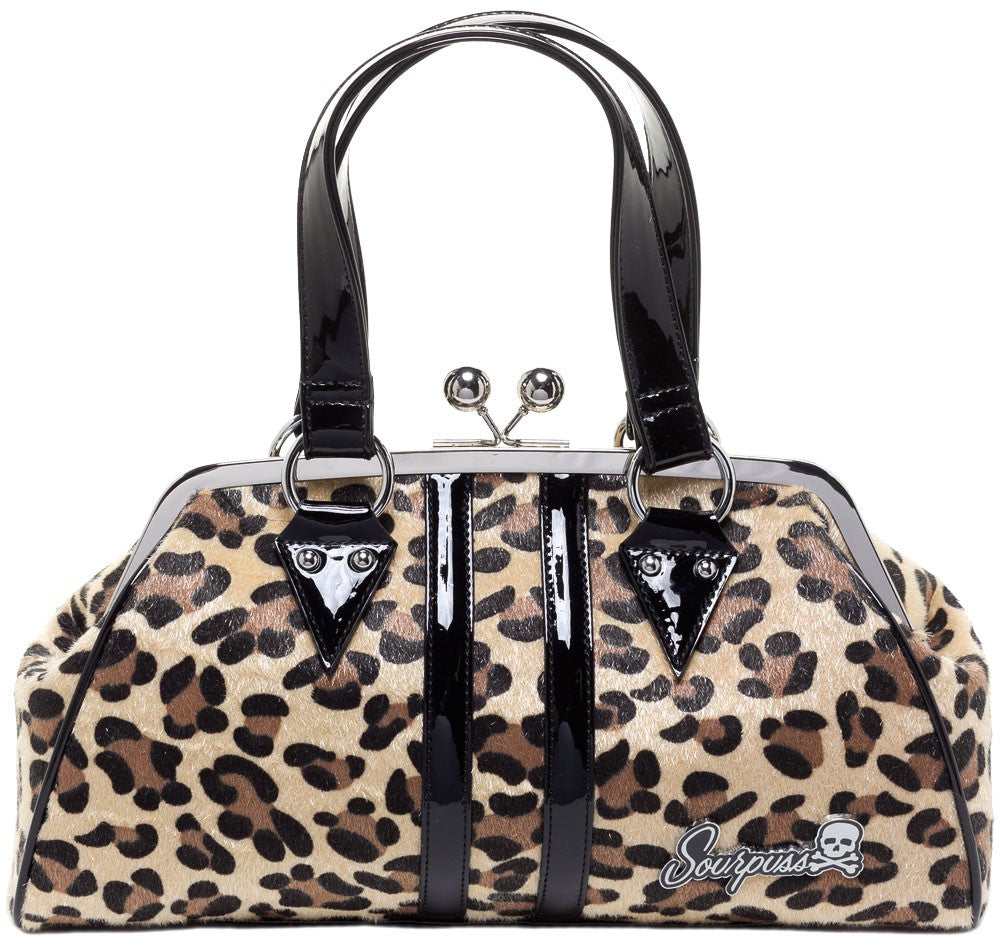 Temptress Leopard Handbag in Tan by Sourpuss