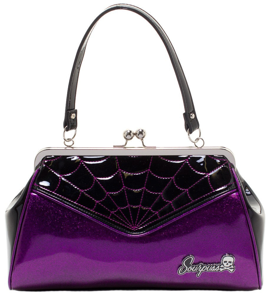 Spiderweb Backseat Baby Purse in Purple