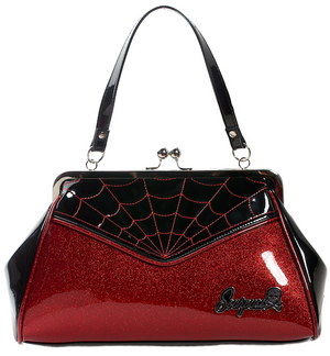 Spiderweb Backseat Baby Purse in Red