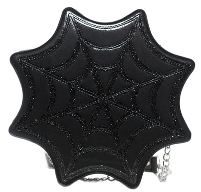 Spiderweb Sparkle Crossbody Purse by Sourpuss