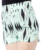 Retro Diamonds Sweetie Pie Shorts in Mint by Sourpuss