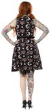 Black Cats Lucy Fur Dress by Sourpuss