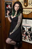 Magnolia  Eyelet Lace Dress in Black by Sourpuss