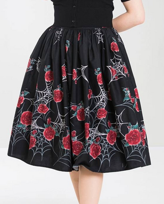 Webs and Roses Sabrina 50's Gathered Swing Skirt
