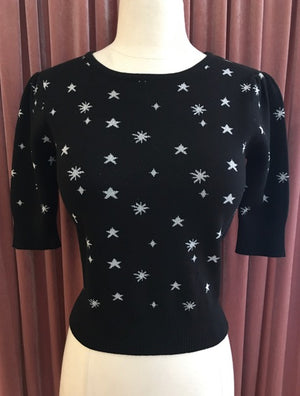 Black Starburst Night Sky Knit Sweater