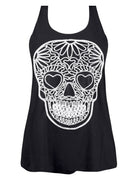 Sugar Skull Embroidered Tank