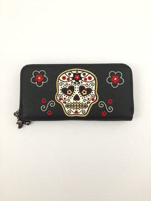 Sugar Skull Zip Around Wallet
