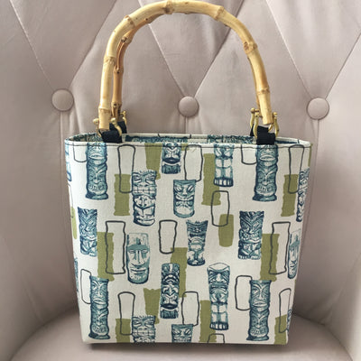Atomic Tiki Bamboo Handbag in Green