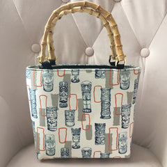 Atomic Tiki Bamboo Handbag in Orange