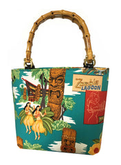 Tropical Tiki Bamboo Handbag