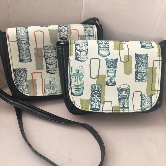Retro Atomic Tiki Crossbody Bag