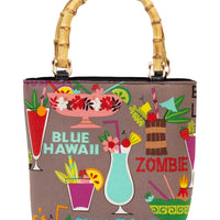 Tiki Drinks Bamboo Handbag