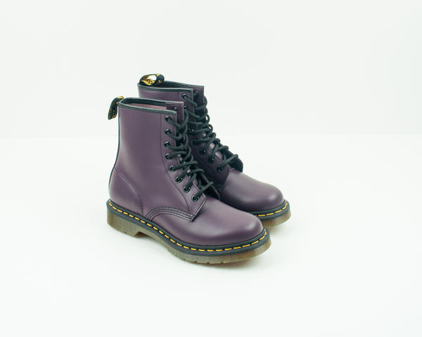 DR. MARTENS - BOOTS - 1460 W 8-EYE SMOOTH PURPLE 11821 500