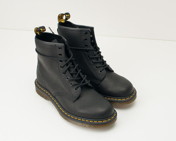 BOTA - DR. MARTENS - 1460 8-EYE GREASY BLACK 11822 003