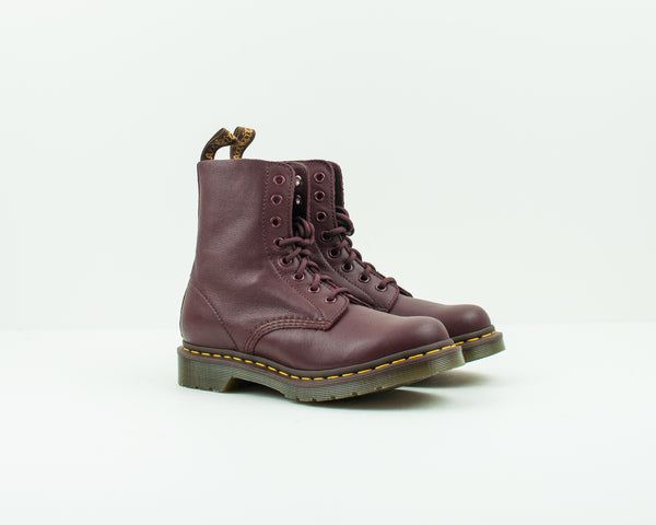 DR. MARTENS - BOOTS - PASCAL 8-EYE VIRGINIA CHERRY RED 13512 411