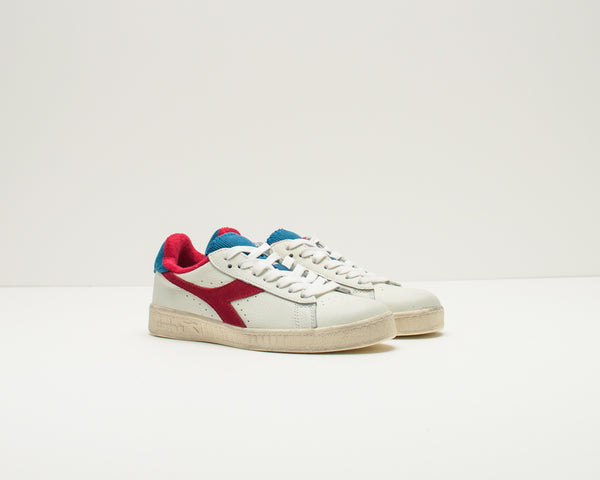 DEPORTIVO - DIADORA HERITAGE - GAME L LOW USED WHITE DARK RED 174764 C0680