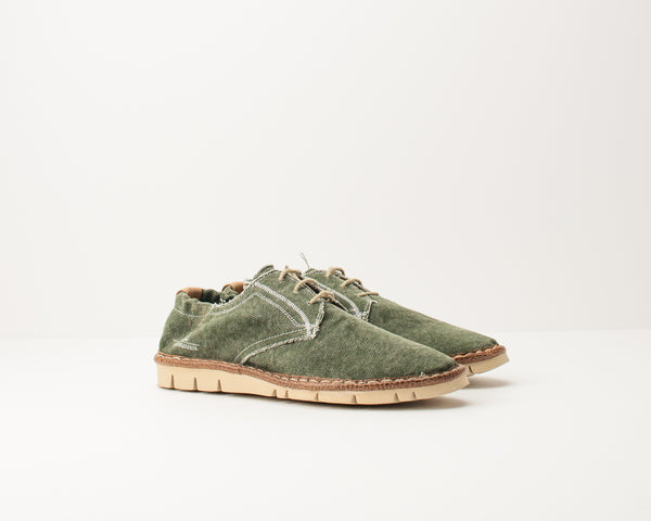 ZAPATO - WATSON&PARKER - 501556 DAPPER CANVAS WASHED GREEN