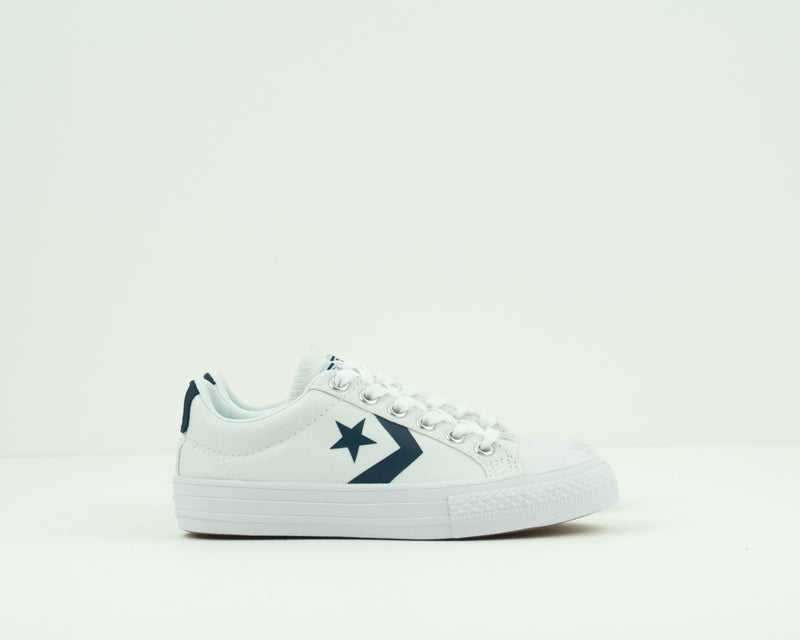 CONVERSE - KID'S TRAINERS - 655410C STAR PLAYER EV OX WHITE ATHLETIC NAVY WHITE JUNIOR