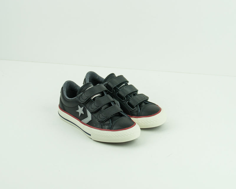 ZAPATILLA DE NIÑO - CONVERSE - 658155C STAR PLAYER EV 3V LEATHER OX BLACK DOLPHIN EGRET