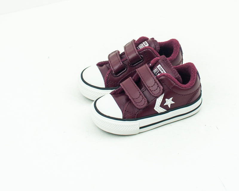 ZAPATILLA DE NIÑO Y NIÑA - CONVERSE - 762016C STAR PLAYER 2V OX DARK BURGUNDY