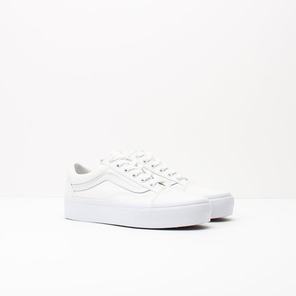 ZAPATILLA - VANS - UA OLD SKOOL PLATFORM TRUE WHITE VN0A3B3UW001