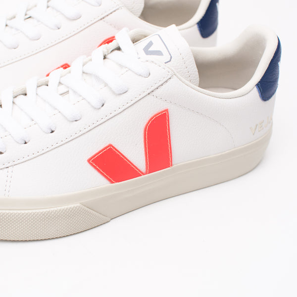 DEPORTIVO - VEJA - CAMPO CHROMEFREE LEATHER EXTRA WHITE ORANGE FLUO COBALT CP052195