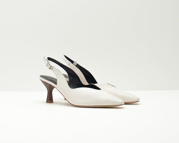 SLINGBACK SHOES - SEIALE - CRAVO WHITE