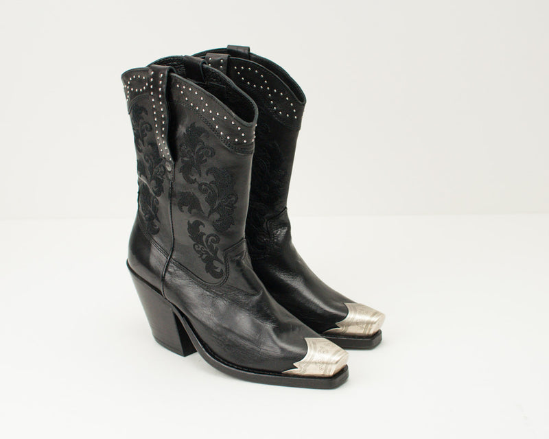 CATARINA MARTINS - COWBOY BOOTS - ROOW FE2465LEATHERBK