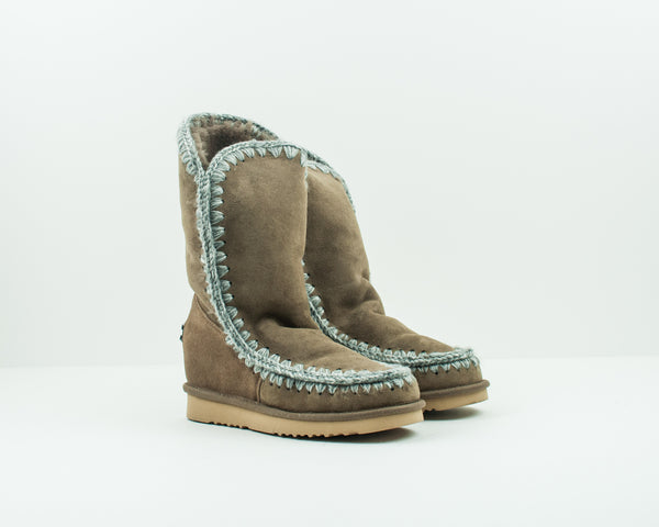 MOU - WEDGE BOOTS - ESKIMO INNER WEDGE TALL DKST
