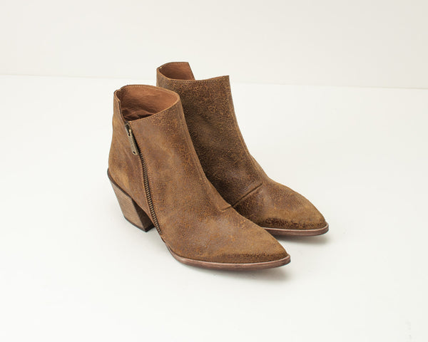 VERACRUZ - MID HEEL LEATHER ANKLE BOOTS - LINCE