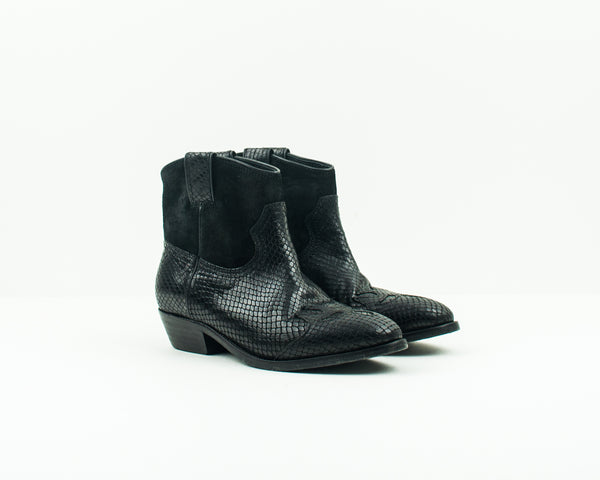 CATARINA MARTINS - BOOTIES - OLSEN LV2740LEATHERBK