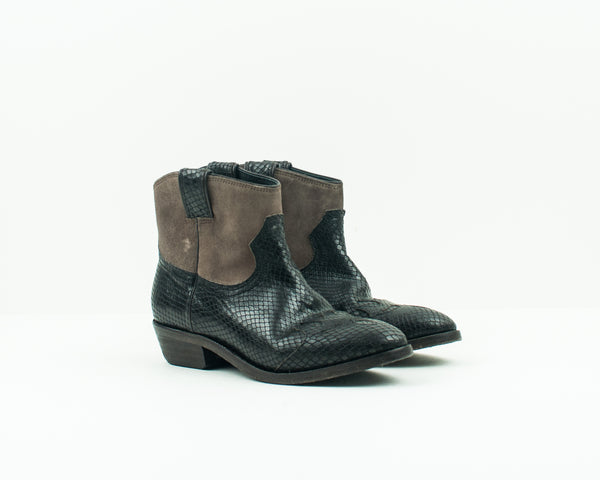 CATARINA MARTINS - BOOTIES - OLSEN LV2740LEATHERTP
