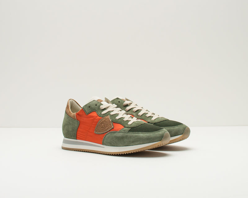 PHILIPPE MODEL - TRAINERS - TRLU RX10 TROPEZ L U RUN VERT ORANGE