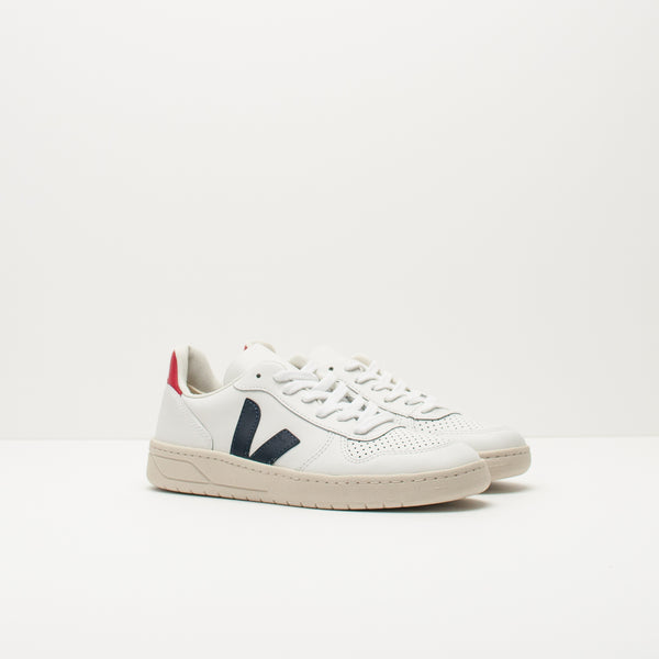 ZAPATILLA - VEJA - V-10 LEATHER EXTRA WHITE NAUTICO PEKIN VX021267